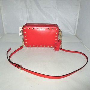 Michael Kors Ginny Heart Studed Leather Camera Bag